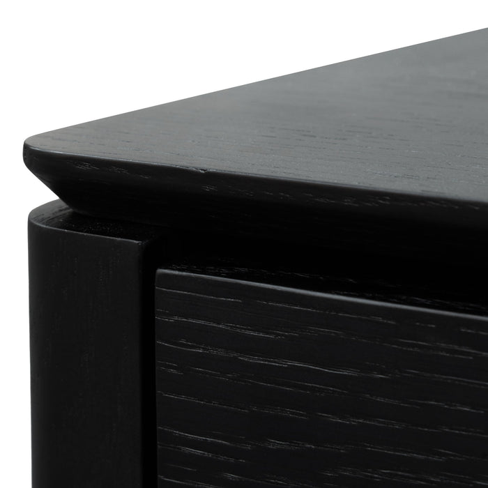 Norris Bedside Table - Black Oak