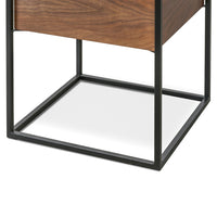 Cane Scandinavian Side Table - Walnut