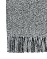 Sora Wool Blend Throw Rug - Grey