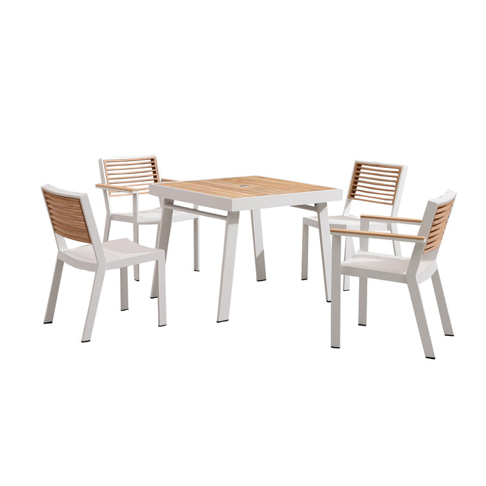 St Lucia 5 Piece Outdoor Dining Set - White