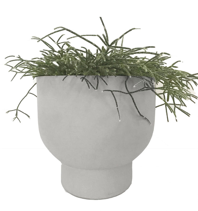 Nell 22cm Stone Planter - Pale grey