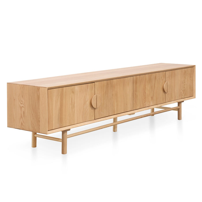 Ducan 2.1m TV Entertainment Unit - Natural Wood