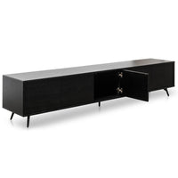 Nelson 2.4m TV Entertainment Unit - Black Oak