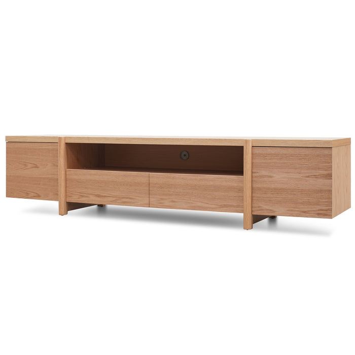 New York Lowline 2.1m Wooden TV Entertainment Unit - Full Natural