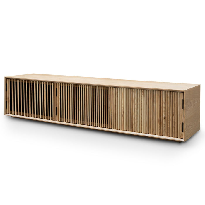 Dahlia 2m Wooden TV Entertainment Unit - Natural Ash
