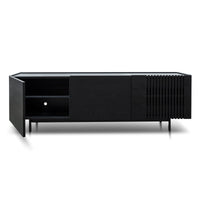 Onito 180cm Wooden TV Entertainment Unit - Full Black