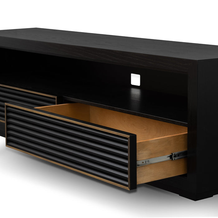 Claude 180cm Entertainment TV Unit - Black Oak