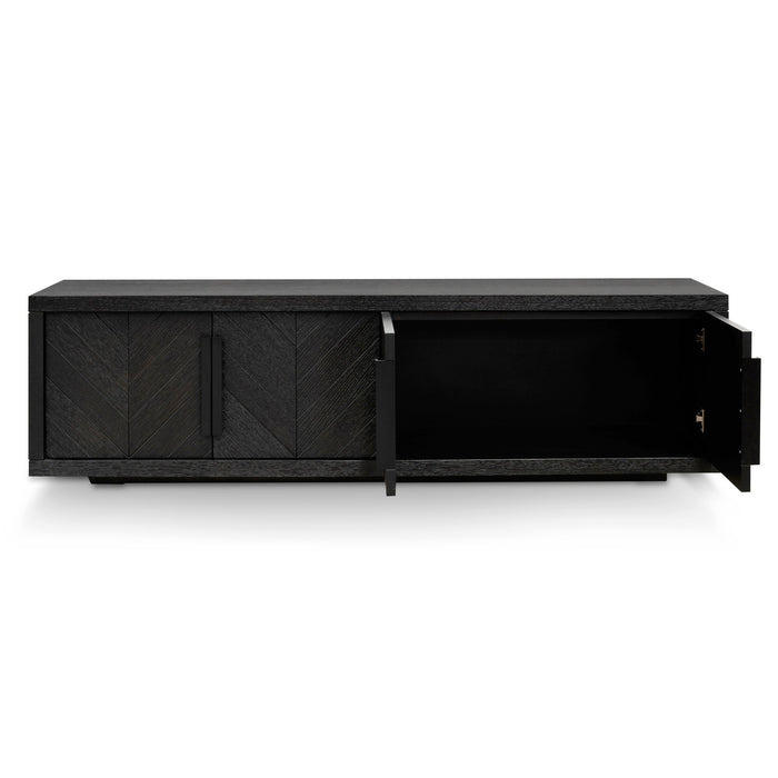 Miriam 180cm Entertainment TV Unit - Textured Espresso Black