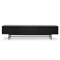 Christie 2.1m Wooden TV Entertainment Unit - Full Black