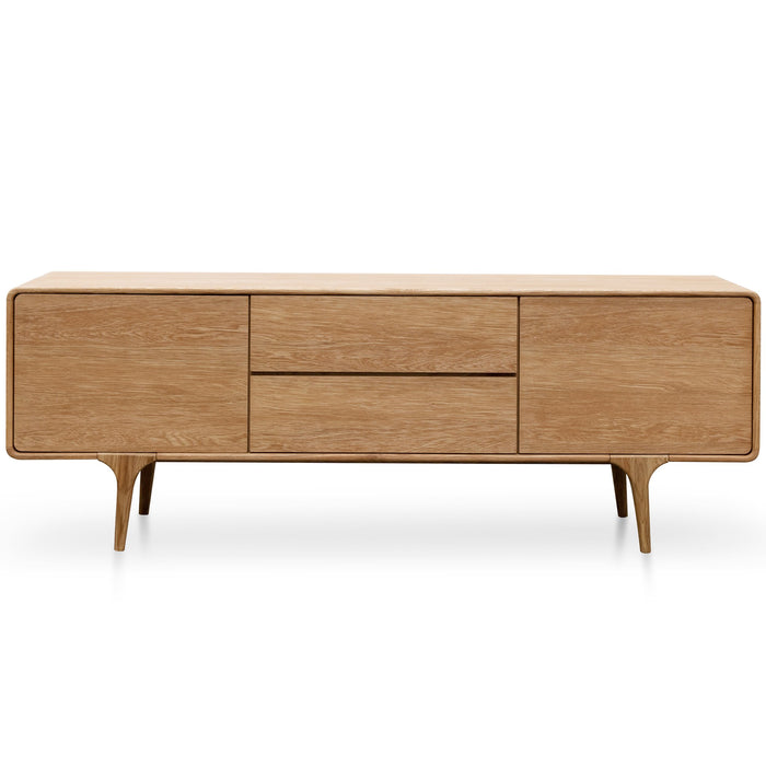 Henderson 1.78m Natural Oak TV Entertainment Unit