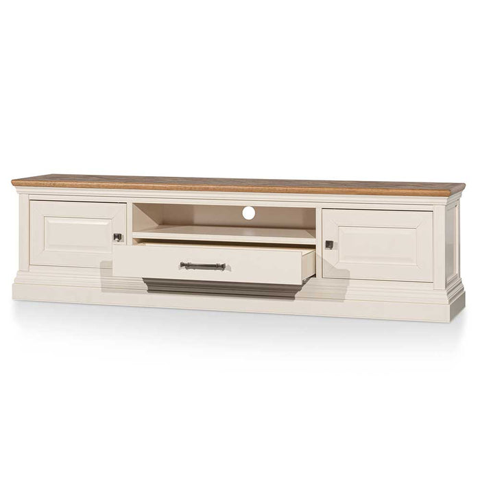 Derek 2m Entertainment TV Unit – Natural and White