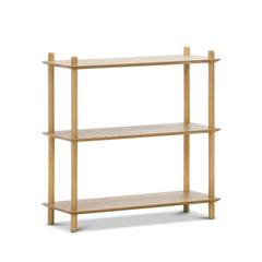 Tallulah 3-Tier Oak Shelving Unit - Natural