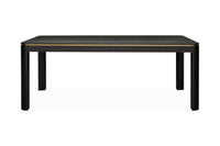Harley 2m Dining Table - Textured Espresso Black