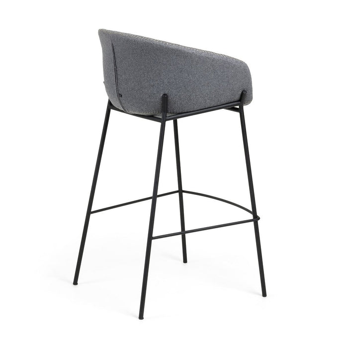 Zadine Fabric 65cm Bar Stool - Grey