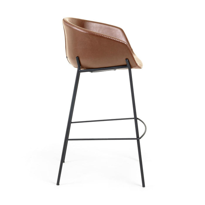Zadine Faux Leather Bar Stool - Rust