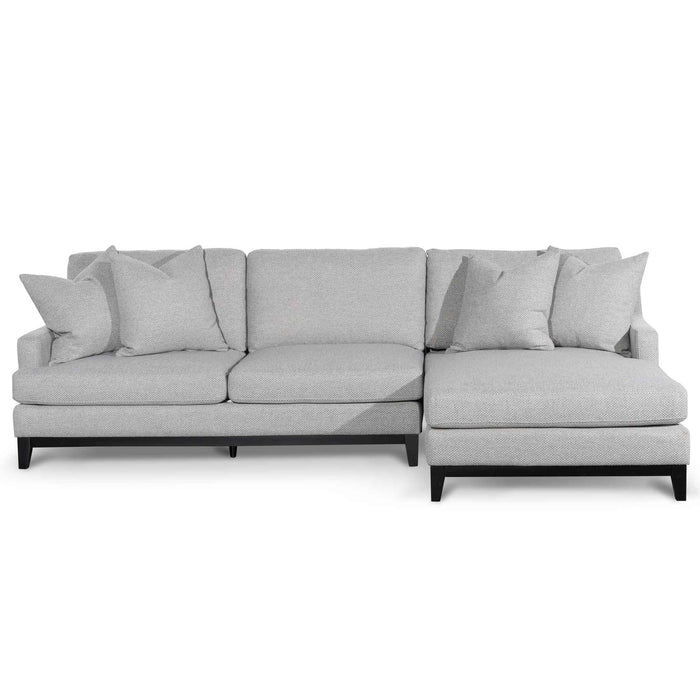 Alana 3 Seater Right Chaise Fabric Sofa - Grey