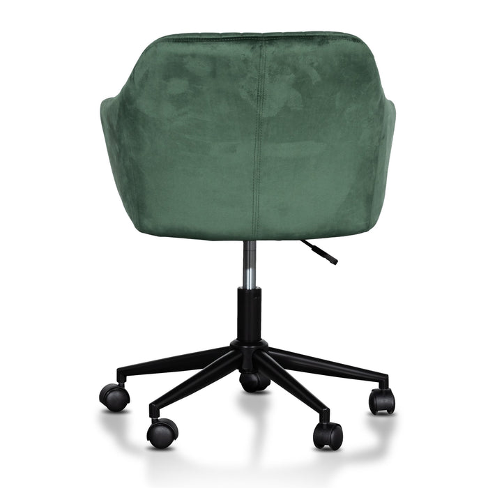 Alba Office Chair - Dark Green Velvet