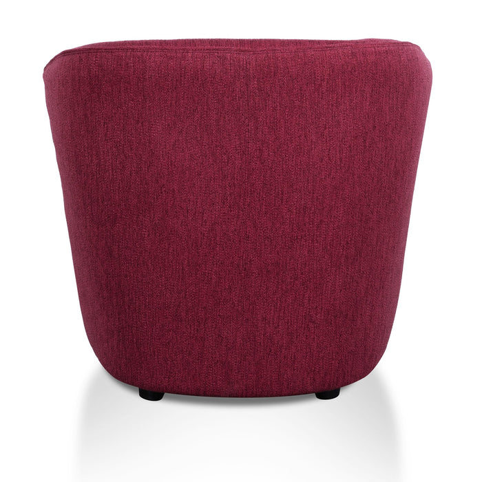 Alfonzo Fabric Armchair - Garnet Red