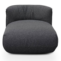 Alita Fabric Armchair With Chaise - Dark Grey