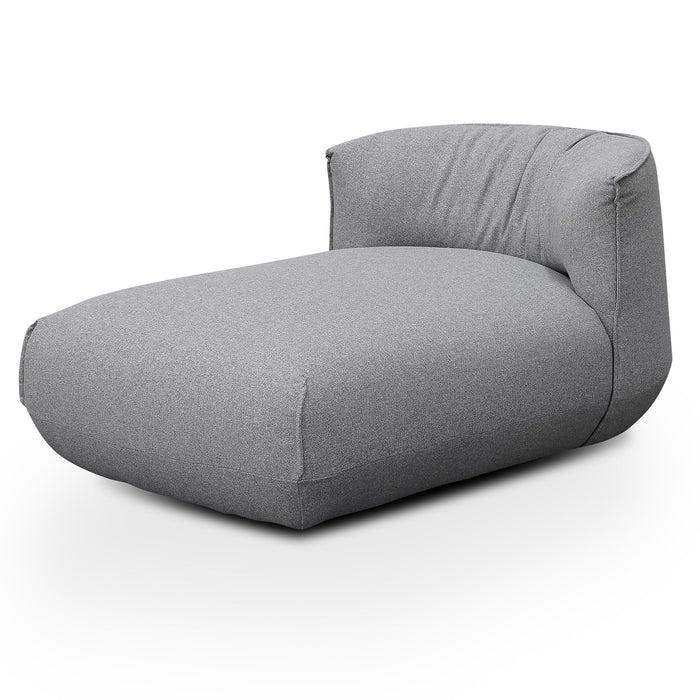 Alita Fabric Armchair With Chaise - Light Grey