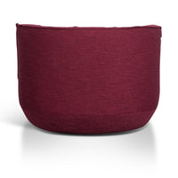 Alita Fabric Lounge Chair - Garnet Red