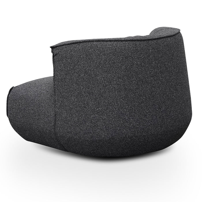 Alita Fabric Lounge Chair - Dark Grey