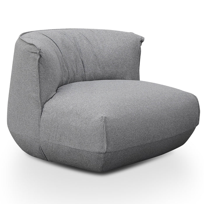 Alita Fabric Lounge Chair - Light Grey