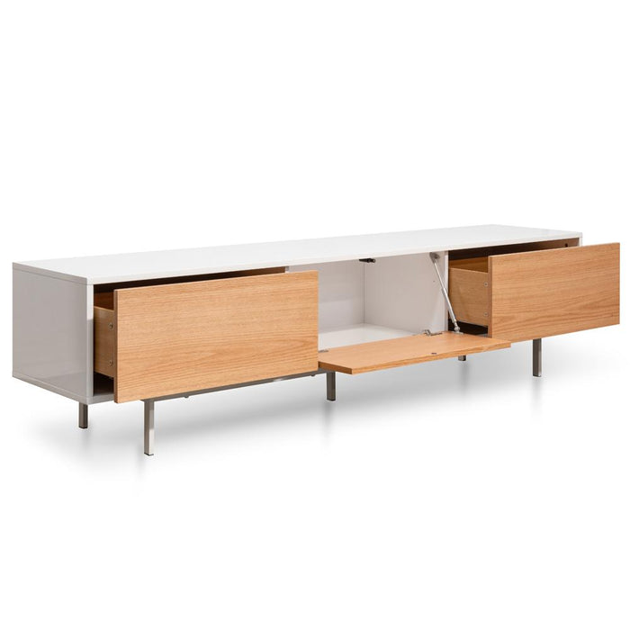 Alto 2m Entertainment TV Unit - White - Natural
