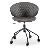 Amos Office Chair - Charcoal with Black Base