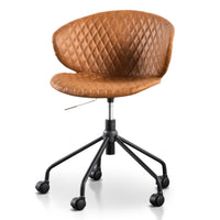 Amos Office Chair - Tan with Black Base