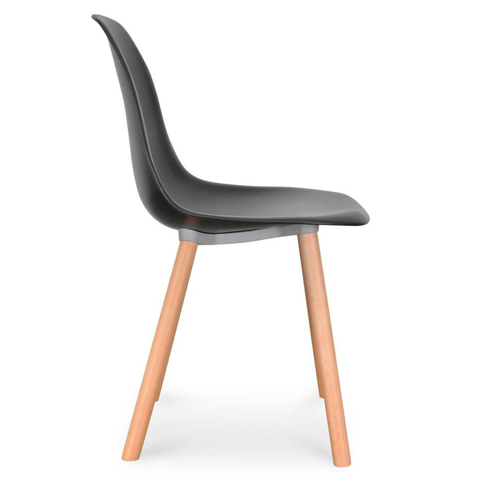 Amy Dining Chair - Black - Natural