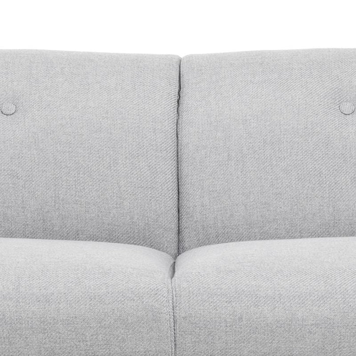 Anette 3 Seater Sofa in Grey With Black Legs