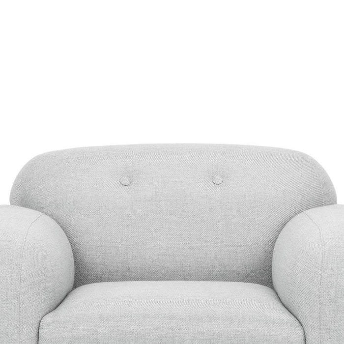 Anette Armchair - Light Grey - Black Legs