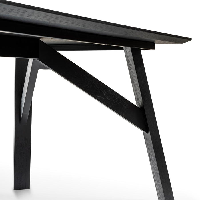 Anya Scandinavian 1.8m Dining Table - Black