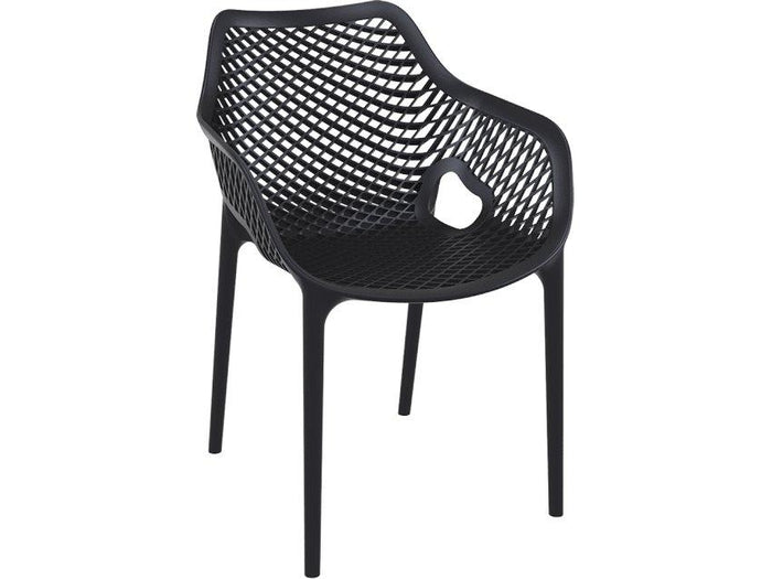Aro Indoor / Outdoor Dining Armchair - Black