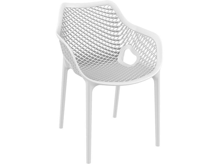 Aro Indoor / Outdoor Dining Armchair - White