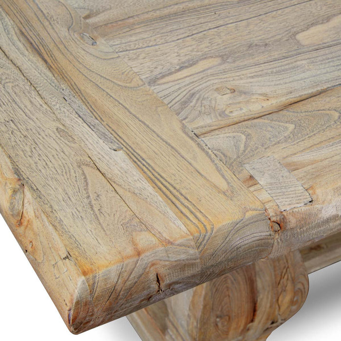 Artica Elm Wood Dining Table 2.4m - Rustic Natural