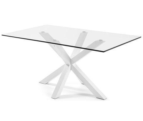 Arya 2m Glass Dining Table - White