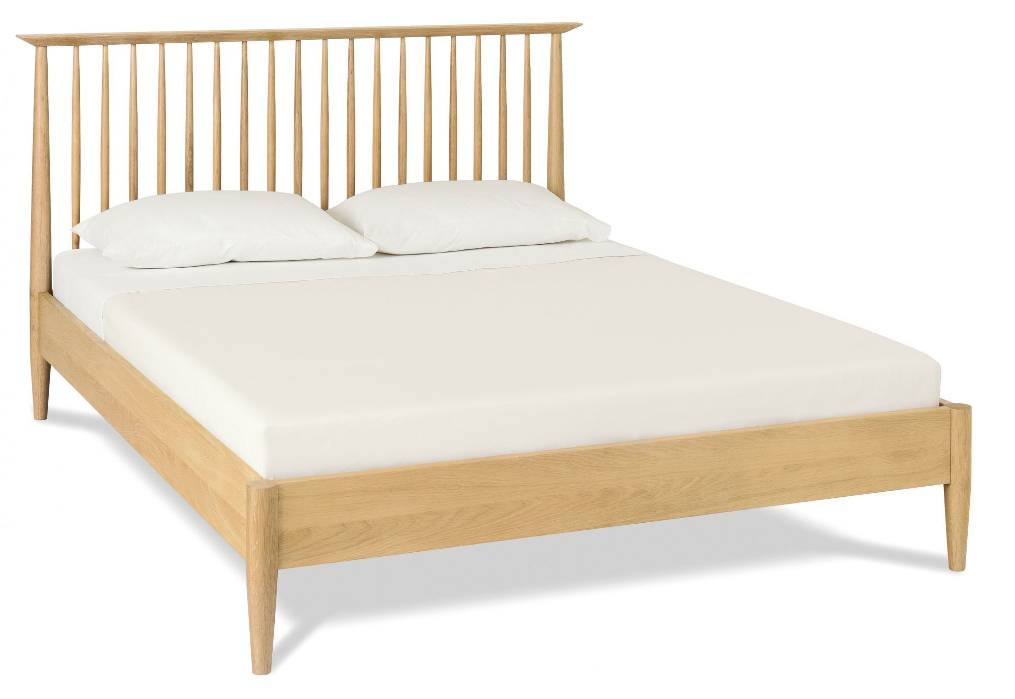 Picture of: Asta 150cm Queen Low Spindle Wooden Bed Base Interior Secrets