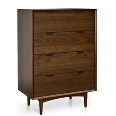 Asta 4 Drawer Chest Scandinavian Design - Walnut