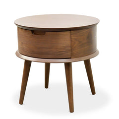 Asta Scandinavian Side Table  - Walnut