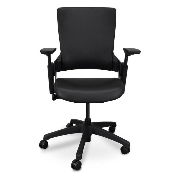 Atlas Ergonomic Leather Office Chair - Black