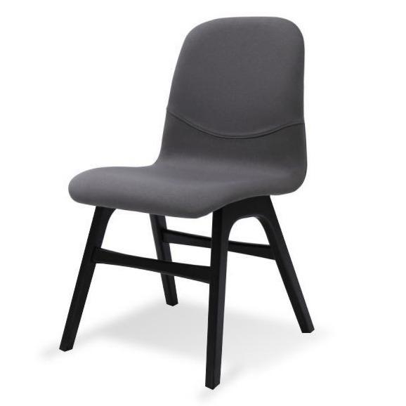 Ava Dining Chair - Paloma with Black Legs