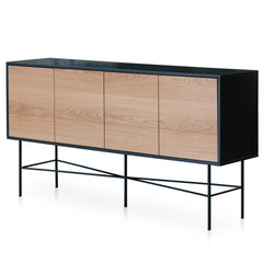 Avenue 180cm Sideboard - Charcoal - Natural