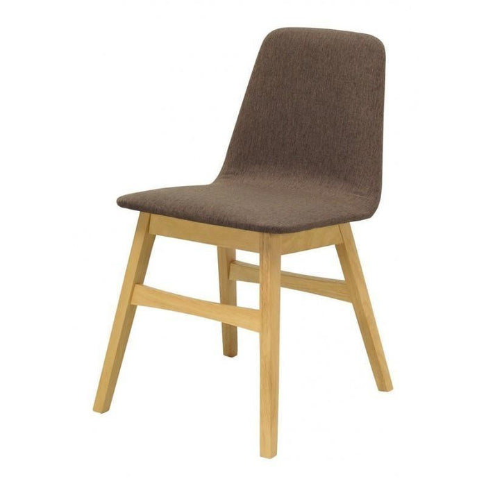Avice PU Leather  Dining Chair In Chestnut - Natural Legs