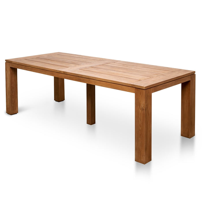 Bairo 1.8m Recycled Teak Outdoor Dining Table - Natural