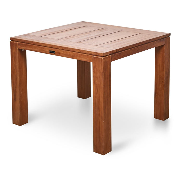 Bairo 100cm Recycled Teak Square Outdoor Dining Table - Natural