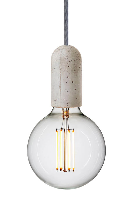 Base Concrete Pendant Lamp - Light Grey