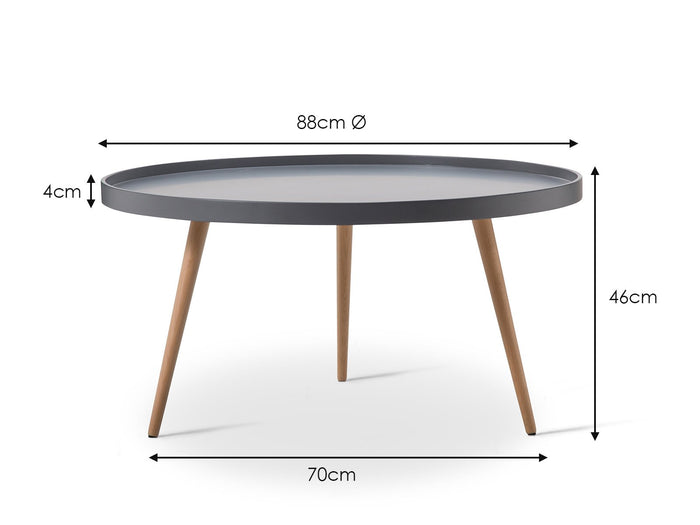 Beau Tray Coffee Table - Grey