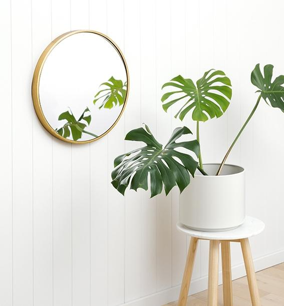 Bella Brass 120cm Round Mirror